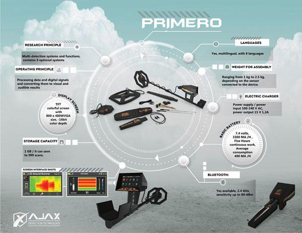 بريميرو جهاز كشف الذهب والمعادن