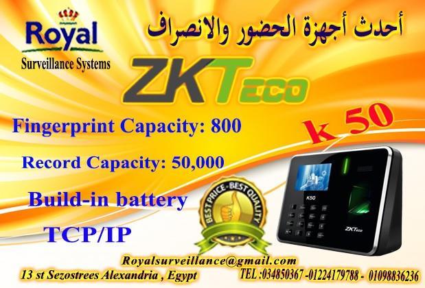 جهاز حضور وانصراف ماركة ZK Teco  موديل K50 334675693
