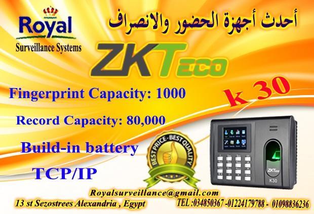 جهاز حضور وانصراف ماركة ZK Teco  موديل K30 940274552
