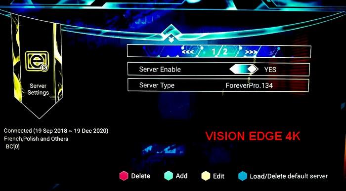 تحديث جديدvision edge تثبيث قنوات